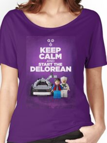 Keep Calm and start the delorean Women's Relaxed Fit T-Shirt