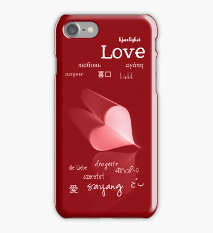plainly ~ i love you iPhone Case Red iPhone Case/Skin