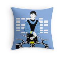 Spock Drummer Throw Pillow