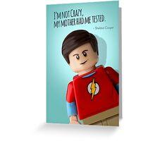 Lego Big Bang Theory Sheldon Cooper  Greeting Card
