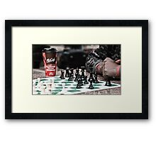 occupy wall street protestor playing chess Framed Print