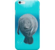 Manatee - Sketched on an iPad formatted for iPhone Case iPhone Case/Skin