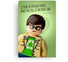 Lego Big Bang Theory Leonard Canvas Print