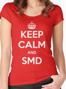 Keep Calm and SMD Women's Fitted Scoop T-Shirt