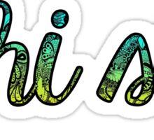 Phi Sig Doodle Sticker