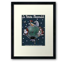 La Petite Mermaid (version2) Framed Print