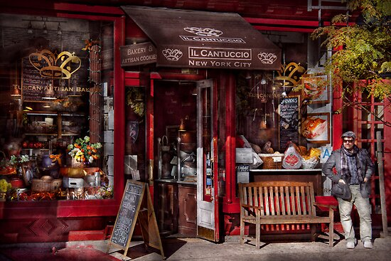 New York -  Store - Greenwich Village - Il Cantuccio  by Mike  Savad