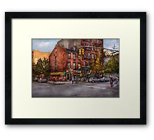 New York - City - Corner of One way & This way  Framed Print
