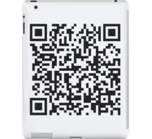 QR Code Quote - Technology Has Exceeded Our Humanity iPad Case/Skin