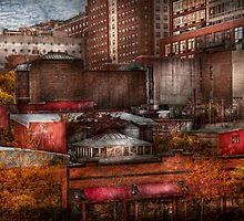 New York - City - Greenwich Village - Abstract city by Mike  Savad