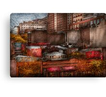 New York - City - Greenwich Village - Abstract city Canvas Print