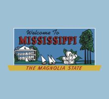 Welcome to Mississippi Sign, Vintage 50s One Piece - Short Sleeve