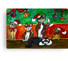 A Meowing Christmas Dream Canvas Print