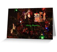 Merry Christmas in Green Greeting Card