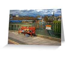Down and Out in Edinburgh Greeting Card
