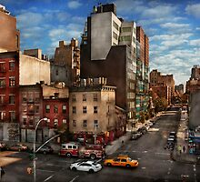 New York - City - Greenwich Village - The corner of 10th Ave & W 18th St  by Mike  Savad