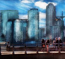 New York - City - Hudson River Park - Downtown by Mike  Savad