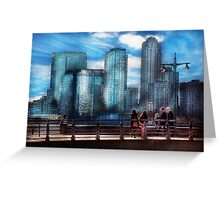 New York - City - Hudson River Park - Downtown Greeting Card