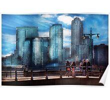New York - City - Hudson River Park - Downtown Poster