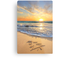 Christmas Wishes From The Children's Beach Metal Print