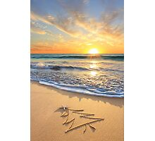 Christmas Wishes From The Children's Beach Photographic Print