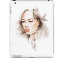 Oriental girl , watercolor iPad Case/Skin