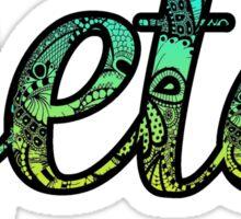 Zeta Doodle Sticker