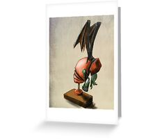 Clockwork Cthulhu Statuette Greeting Card