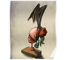 Clockwork Cthulhu Statuette Poster