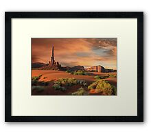 The Totem Pole Framed Print