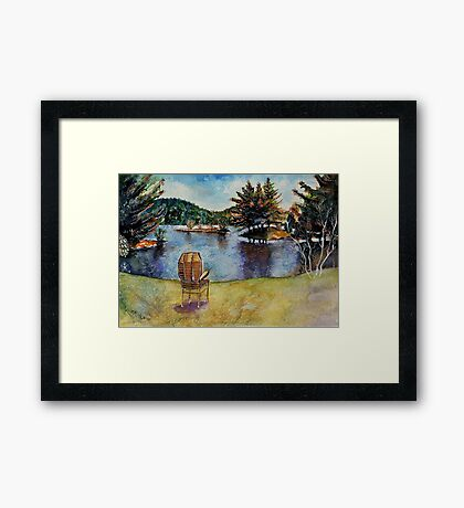 The Serenity Nature Can Give You Framed Print