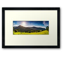 The Green Behind the Gold - Numinbah Valley Panorama Framed Print