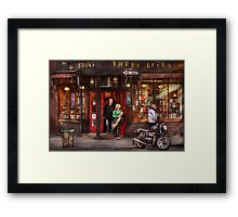 New York - Store - Greenwich Village - Three Lives Books  Framed Print