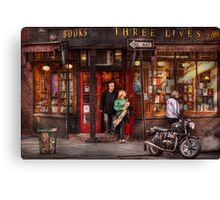 New York - Store - Greenwich Village - Three Lives Books  Canvas Print