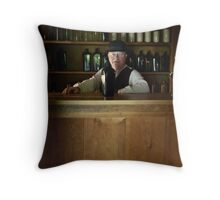 The bartender Throw Pillow
