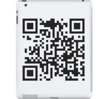 QR Code Quote - Put Down Your Phone iPad Case/Skin