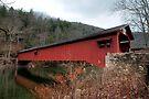 Freshly Rejuvenated Hillsgrove Covered Bridge by Gene Walls