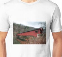 Freshly Rejuvenated Hillsgrove Covered Bridge Unisex T-Shirt