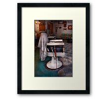 Barber - Frenchtown, NJ - We have some free seats  Framed Print