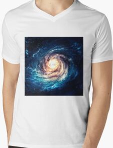 Foster the People Galaxy Print Mens V-Neck T-Shirt