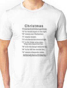 •*¨)★ MEANING OF C-H-R-I-S-T-M-A-S TEE SHIRT  •*¨)★ Unisex T-Shirt