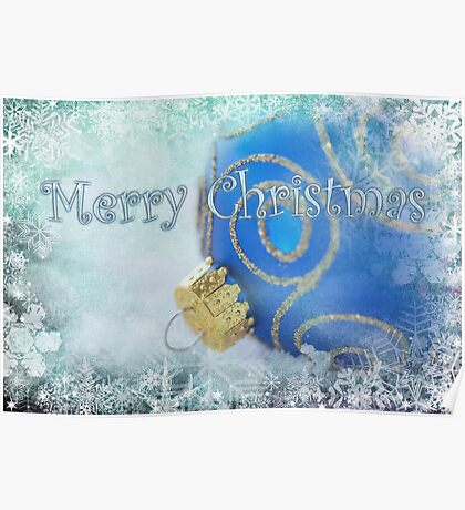 Merry Christmas blues Poster
