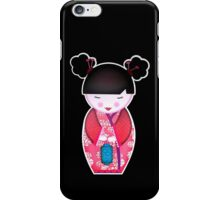 Pink Kokeshi iPhone Case/Skin