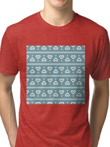 The pattern in the hearts Tri-blend T-Shirt