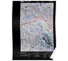 USGS Topo Map Washington State WA Silverton 20110425 TM Inverted Poster