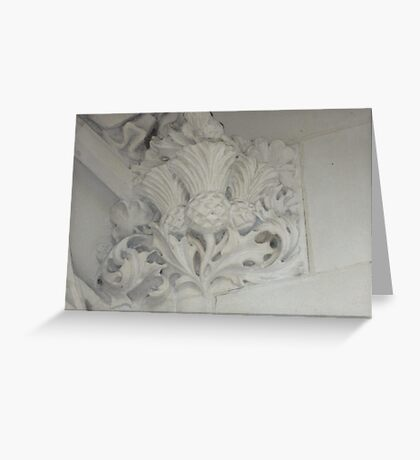Thistle In Plaster Detail, Supreme Court, London Greeting Card
