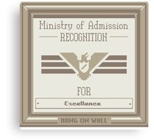 Papers Please Admission Canvas Print