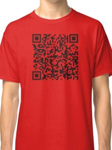 QR Code Quote - Technology Has Exceeded Our Humanity Classic T-Shirt