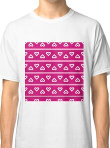 The pattern in the hearts Classic T-Shirt