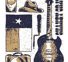 Shakey Graves Poster by Austin Edwards